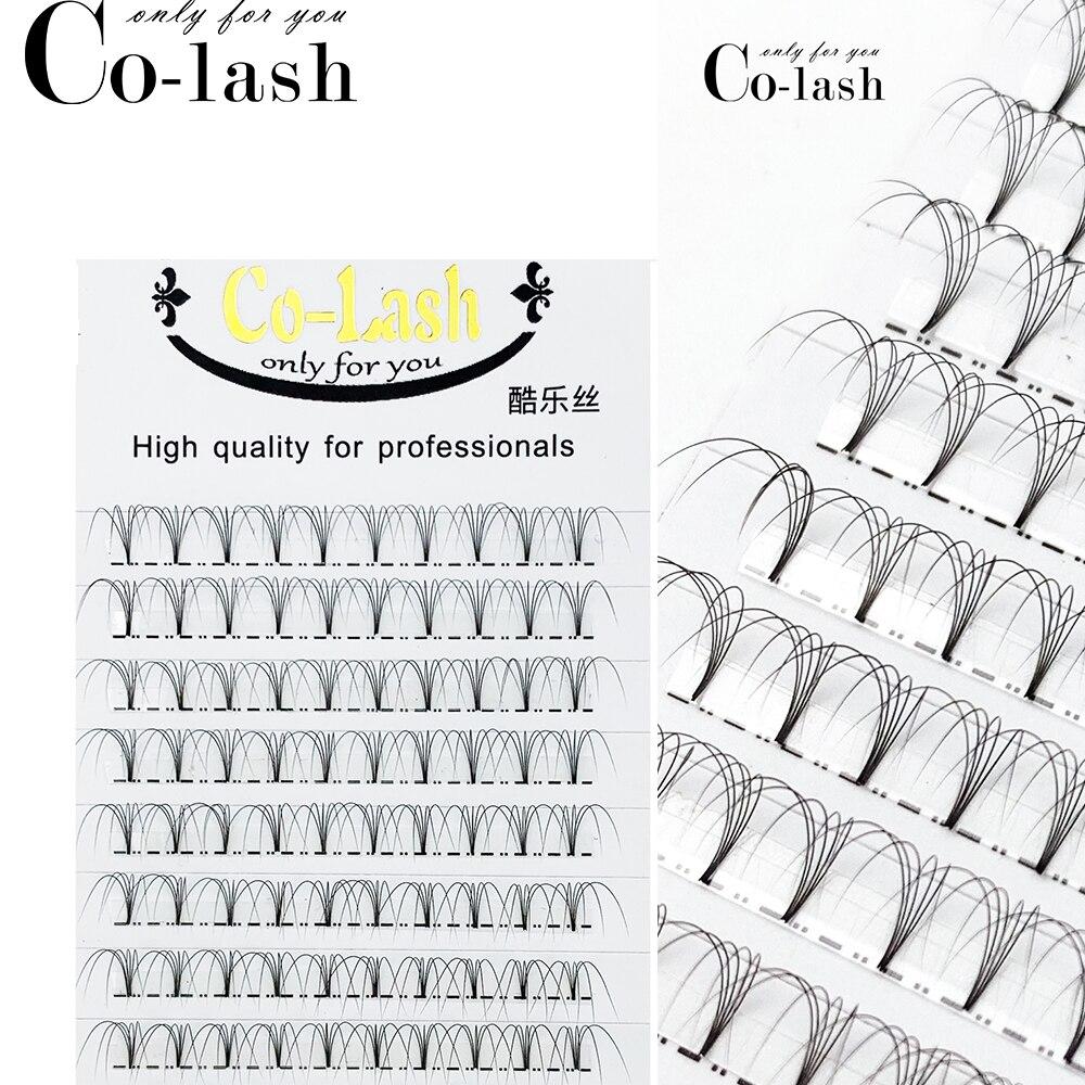 Colash Premade Russian Volume Fans 3d/4d/5d/6d Mink Eyelashes Short Stem Lash Pre made Eyelash Extensions Supplies-in False Eyelashes from Beauty & Health