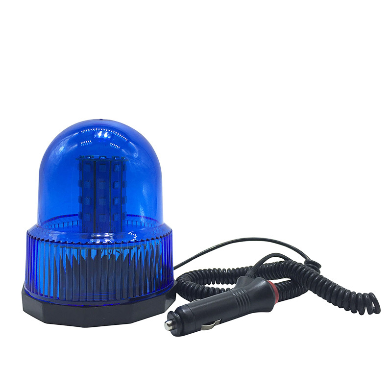 Blue Color Car Vehicle Magnetic Mounted Police DC12V LED Strobe Rotating Flashing Warning Light Beacon Flash Emergency Lights