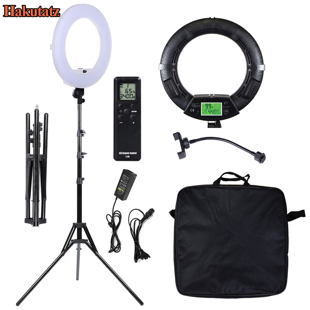 3200-5500Okay Bio-Colour Digital Show Photographic Studio Digital camera Ring Mild 18'' Dimmable 480 Led Video Lighting Lamp With Tripod