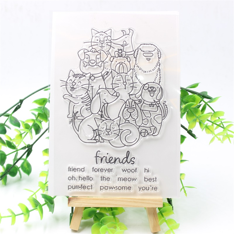 YPP CRAFT Friends Transparent Clear Silicone Stamps for DIY Scrapbooking/Card Making/Kids Christmas Fun Decoration Supply ypp craft post card transparent clear