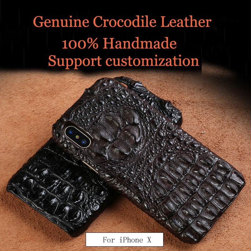 LANGSIDI Luxurious Real Genuine crocodile leather covers for iphone X handmade Design Half pack phone case For iphone 7 8 plus LANGSIDI Luxurious Real Genuine crocodile leather covers for iphone X handmade Design Half pack phone case For iphone 7 8 plus