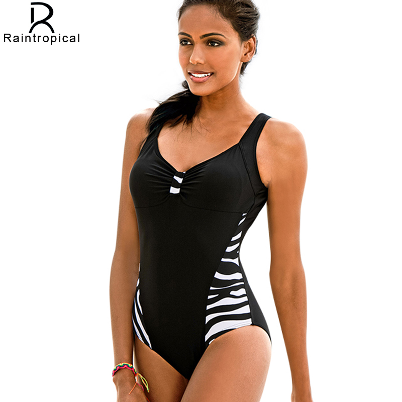2017 New Black One Piece Swimsuit Plus Size Swimwear Women Bathing Suit Retro Vintage Bodysuit Push Up Swim Suit 4XL X002 new one piece swimsuit women vintage monokini female high waist bathing suits black plus size swimwear swim suit m 4xl