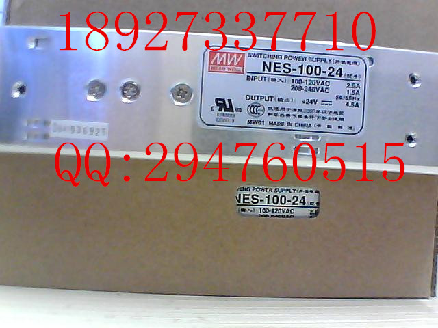 [ZOB] 100% brand new original authentic Taiwan Ming Wei switching power supply NES-100-24 100W DC24V  --5PCS/LOT