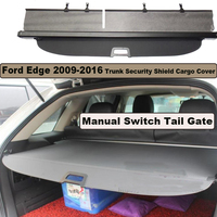 Car Rear Trunk Security Shield Cargo Cover For Ford Edge 2009 2016 Manual Switch Tail Door PARCEL SHELF SHADE TRUNK RETRACTABLE