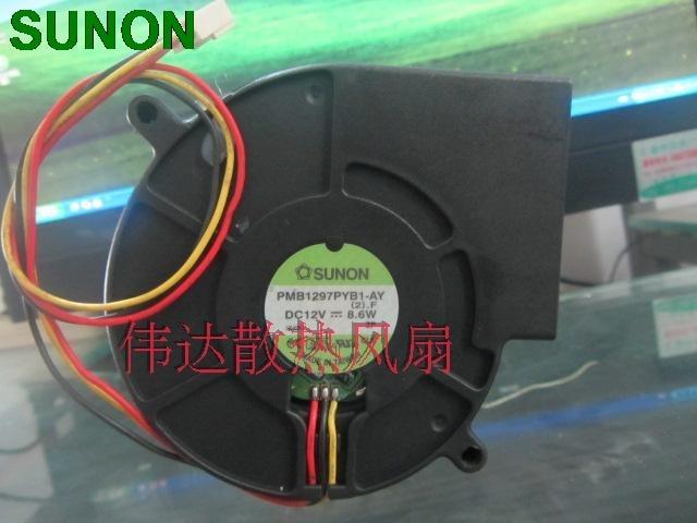 Sunon PMB1297PYB1-AY 9733 Blower fan 12V 8.6W 97*94*33mm delta new 9733 super large dry machine blower fan violence 12v 6a bfb1012uh 97 97 33mm