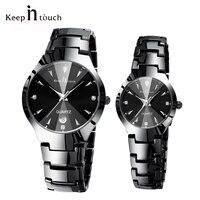 Top Merk Luxe Minnaar Horloge Paar Waterdichte Mannen Vrouwen Koppels Horloges Quartz Horloge Man Vrouw Armband Relogio Masculino
