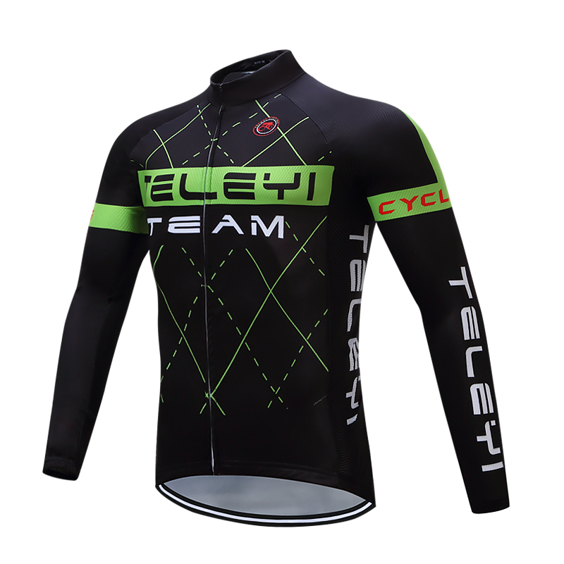 TELEYI 2017 Men Long Sleeve Cycling Jerseys Top Cycling clothing MTB wear Breathable Mountain Bike riding clothes Maillot