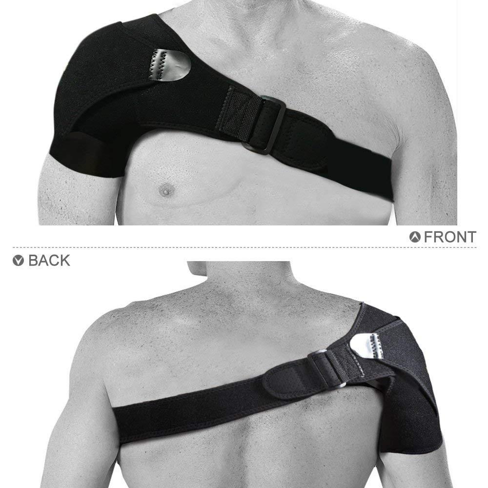 Shoulder Brace with Pressure Pad  Neoprene Shoulder Support Shoulder Pain Ice Pack Shoulder Compression Sleeve 5