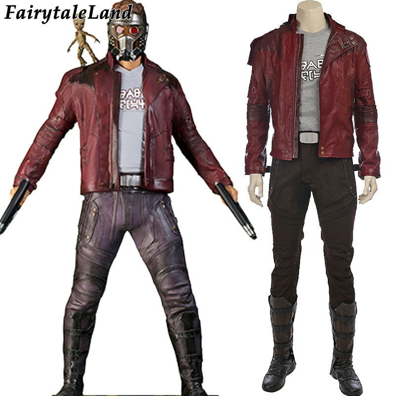 Peter Quill Star Lord costume Guardians of the Galaxy 2 Cosplay Halloween costumes Star Lord cosplay Suit custom made 120pc pg8044 building blocks toys star lord peter guardians of the galaxy groot raccoon quill nebula mantis glenmora hugo drax