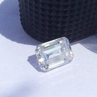 DEF бесцветный 1.2CT 7*5 мм моассанит Изумрудное кольцо VVS1 Муассанит без огранки драгоценный камень искусственный бриллиант пройти Алмазный тес