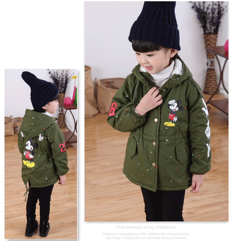 96f3ac2cd Baby Boys Girls Coats Childrens 2019 New Miki Cartoon Mouse Fleece ...