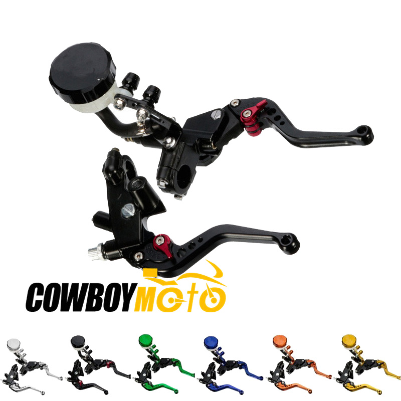 Motorcycle Hydraulic Brake Cable Clutch Levers Master Cylinder Reservoir 7/8 22mm Handlebar For Yamaha YZF R1 R6 Suzuki GSXR600 7 8 motorcycle hydraulic handlebar brake