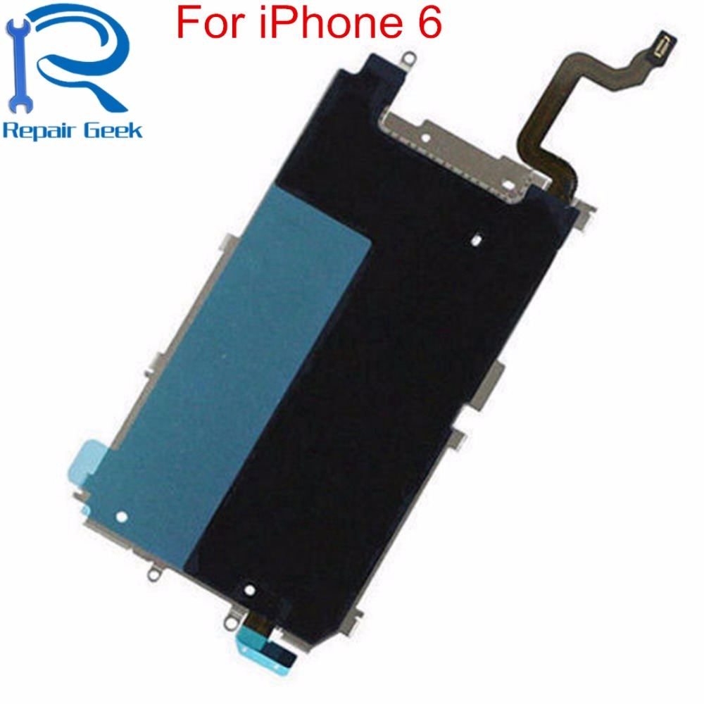 1pcs New Replacement LCD Holding Back Metal Plate With Home Button Extend Flex Cable For iPhone 6 4.7 inch Repair Parts