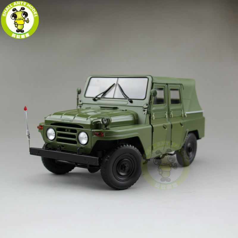 1/18 China BeiJing BJC JEEP 212 SUV Diecast alloy suv car model Green