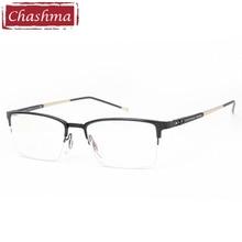Chashma Brand Designer Quality Frame Fashion New Style Mens Eyeglasses Alloy Half Teens Trend Eye Glasses Frames for Male