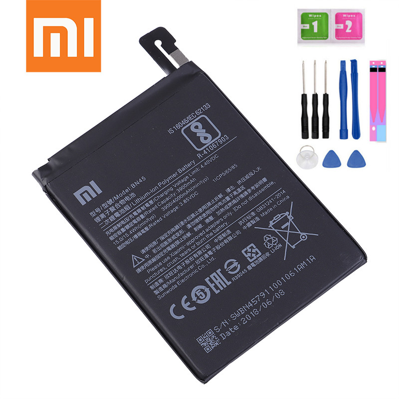 Modest Xiaomi Phone Battery Bn45 3900mah High Capacity High Quality For Xiaomi Redmi Note 5 Original Replacement Battery Redmi Note 5 Nourishing The Kidneys Relieving Rheumatism Cellphones & Telecommunications