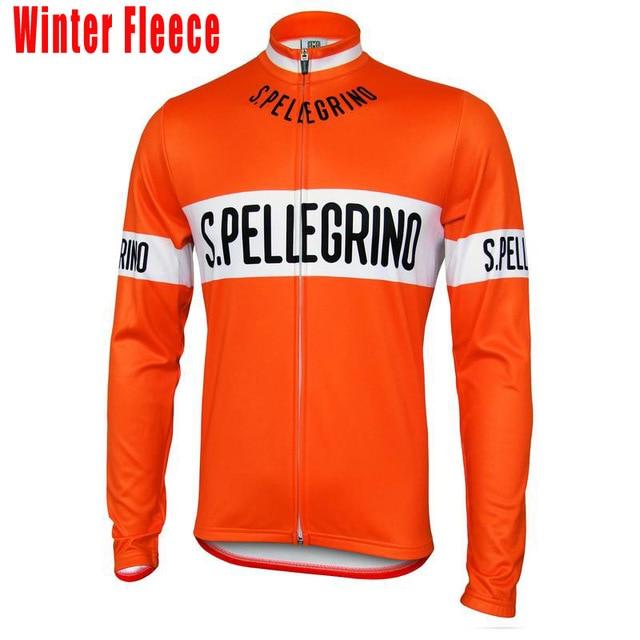 New Orange wool cycling jersey men Long sleeves winter fleece   no fleece  Arbitrary choice MTB movement cycling clothing custom 2602d4d60
