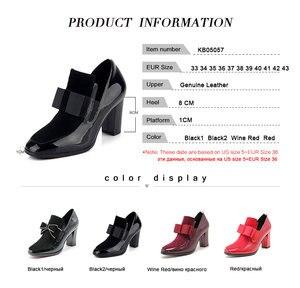 Image 5 - FITWEE rozmiar 33 43 damskie buty na wysokim obcasie buty ze skóry naturalnej Bowknot Dropshipping botki buty wiosenne jesienne buty damskie