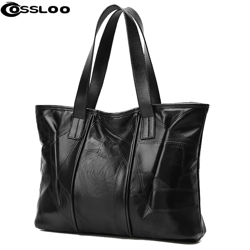 COSSLOO Women Versatile Handbag Soft Offer PU Leather bags Zipper messenger bag/ Splice grafting Vintage Shoulder Crossbody Bags caerlif women crossbody bags genuine leather handbag women messenger bag splice grafting women handbag top handle shoulder bag