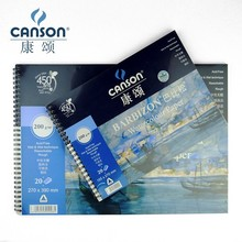 Canson 200g/m2 8K 16K Watercolor Paper For Water Color 20 Sheets Hand Painted Water-soluble Book Creative Blank Spiral Art