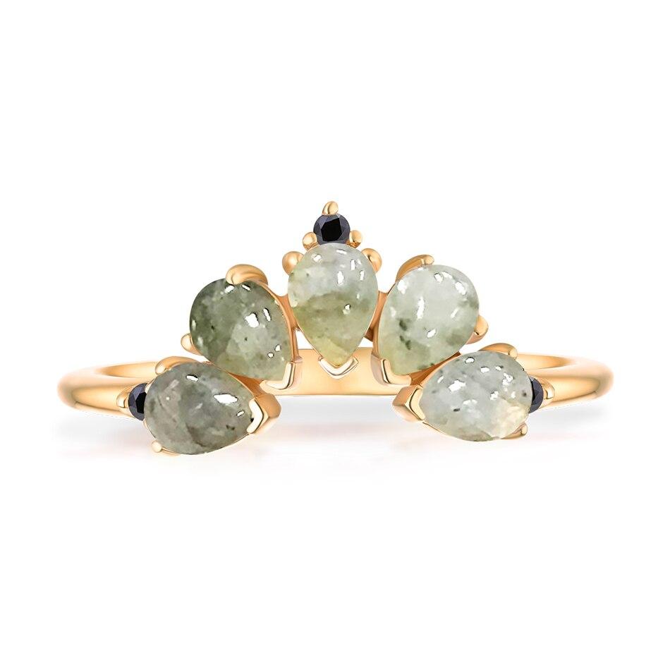ALLNOEL 2019 Real 925 Sterling Silver Ring For Women 100% Natural Rose Quartz Blue Topaz Labradorite Gemstone Stack Fine Jewelry (3)