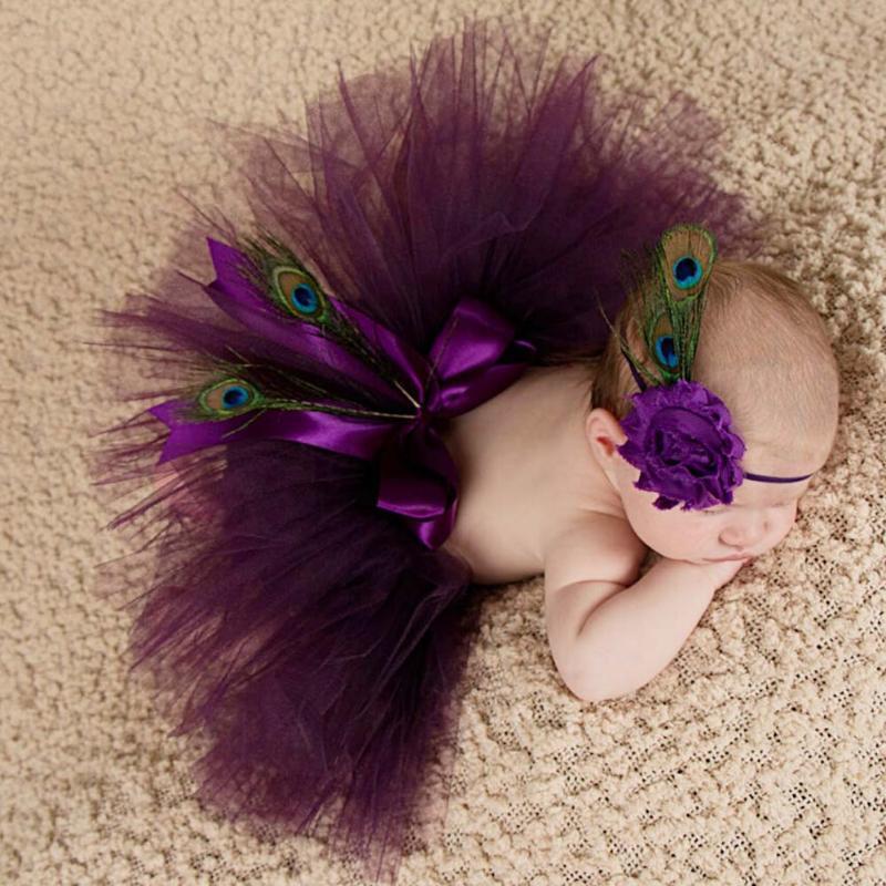 Newborn Baby Photography Props Baby Photo Props Peacock Handmade Peacock Feathers Beanie Cap Fotografia Newborn