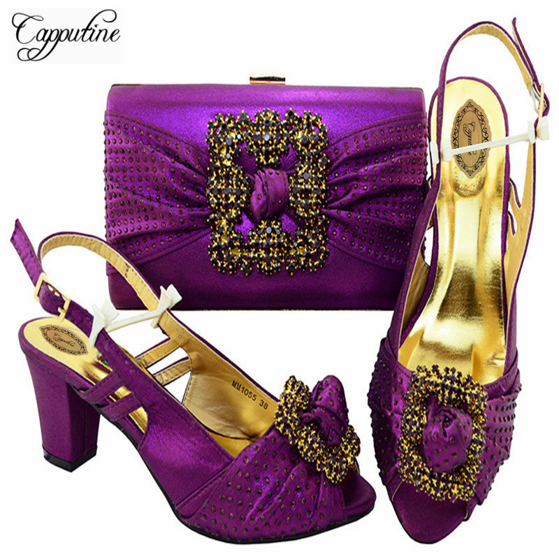 Capputine Newest African Shoes And Bags Matching Set Nigeria Party Shoes And Bag Set New Purple Color Shoes And Bag Set M10557 banking reforms and banks stability in nigeria 1986 2009