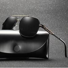 лучшая цена Men's Sunglasses Brand Designer Polarized Sun Glasses Male Retro Square Eyeglasses gafas oculos de sol masculino For Men Z1109