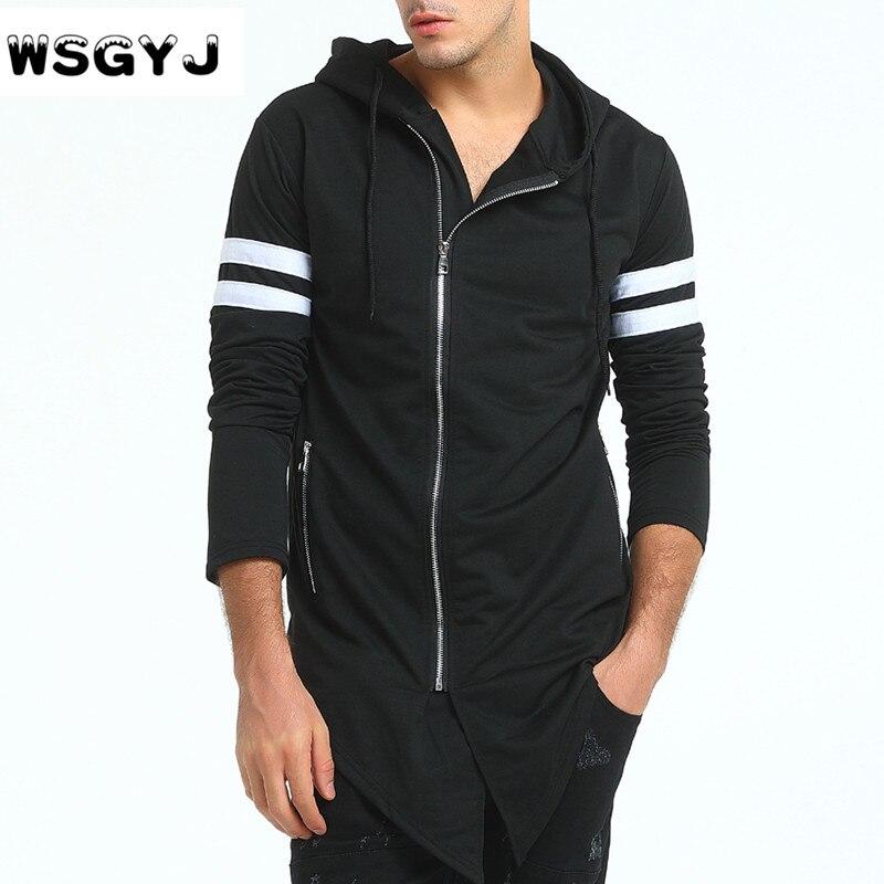 WSGYJ Brand 2018 Hoodie Irregular Zipper Cardigan Men Fashion Tracksuit Male Sweatshirt Hoody Mens Purpose Tour Hoodie