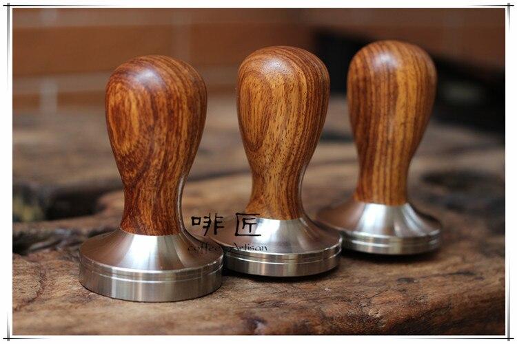 1 pieza profesional hecho a mano Dalbergia odorifere mango de madera 51/58/58,35mm base de acero inoxidable café Espresso Tamper barista-in Alteradores de café from Hogar y Mascotas    1