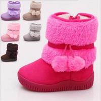 Gorąca sprzedaż dziewczyny śnieg buty moda grube utrzymać ciepłe buty dziecięce wygodne grube dzieci zimowe słodkie buty chłopca buty księżniczki w Buty od Matka i dzieci na