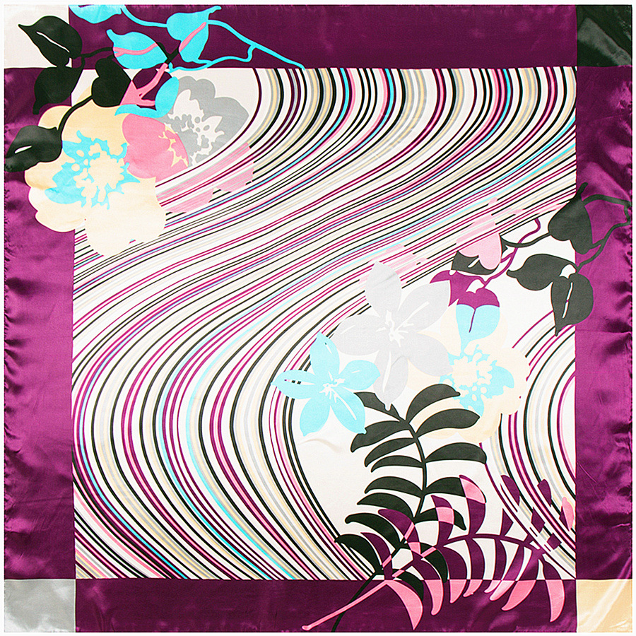 Winter Scarf Rushed Special Offer 90*90 Flower Print Scarf Lic For Women Hijab 2018 High Quality Female Stoles And Scarves A388