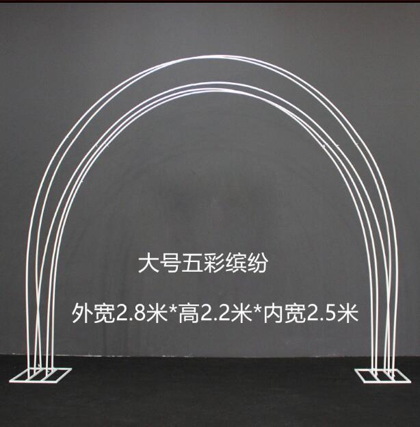 Wedding props colorful arch frame iron art large road lead stage decoration rainbow