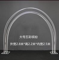 Wedding props colorful arch frame iron art large colorful road lead stage decoration rainbow road lead