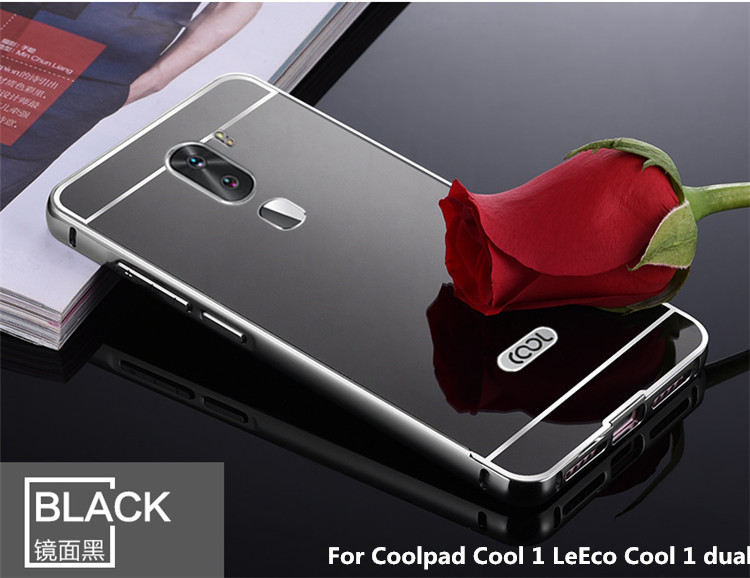 another chance 34754 2b126 US $2.75 |Luxury Plating Metal Mirror Aluminum Bumper PC+Acrylic 2in1 Case  For Coolpad Cool 1 LeEco Cool 1 dual 5.5 inch Cover Capa Para on ...