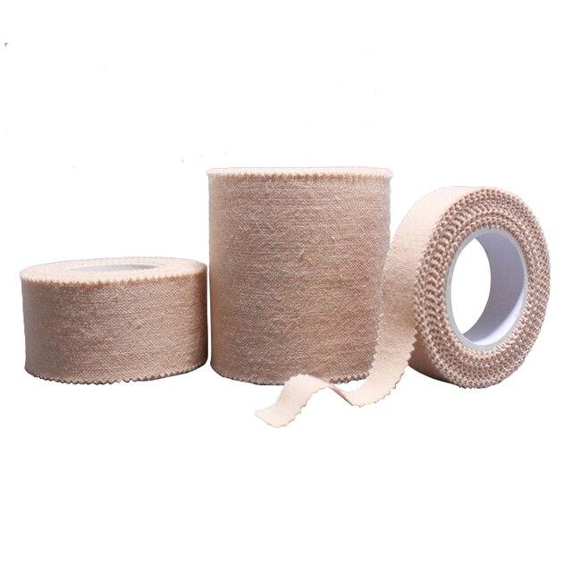 5 Rouleaux/Lot Bande Médicale Gaze Fixation Bande Couleur De La Peau Adhésif Plâtre hypoallergénique Ménage Respirant Coton tissu bandes