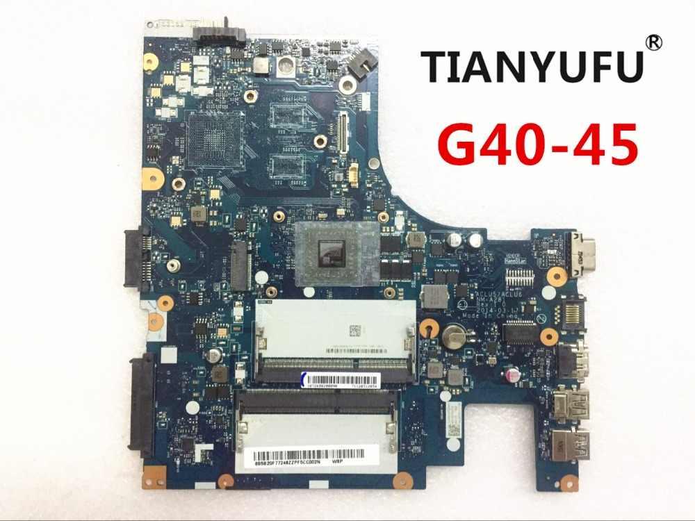 レノボ G40-45 ノートパソコンのマザーボード ACLU5 ACLU6 NM-A281 cpu とマザーボード (amd の CPU) DDR3 100% テスト作業