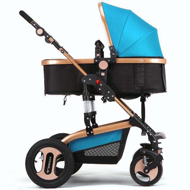 Venda quente Carrinho De Bebê Crianças Cadeira Empurrar Deitado e Sentado Guarda-chuva Dobrável Carrinho para Crianças 0-3 Anos 6 cor