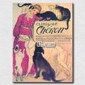 Clinique Cheron by Theophile Alexandre Steinlen envío gratis impresiones de la lona de señora y perro pintura