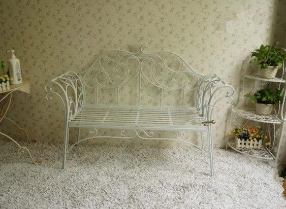 Continental hierro doble sofá muebles silla, hierro forjado bancos ...