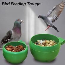 Продукты для домашних животных попугай вольер клетка для домашних животных пластиковая круглая птица вода кормушка Кормление кормушка с чашей высокого качества