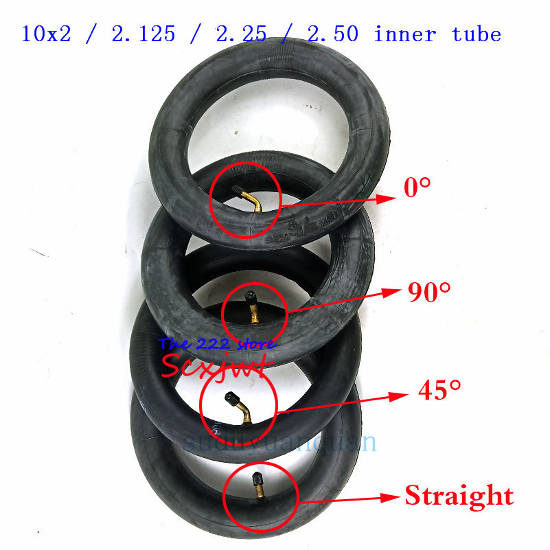 Inner Tube 10X2 / 2.125 / 2.25 / 2.50 with bent / Straight Valve For Tricycle Bike Schwinn Kids 3 Wheel Stroller scooter 10''(China)