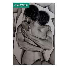 diy 3d diamond painting fashion Nude embrace men and women mosaic cross stitch full square embroidery portrait