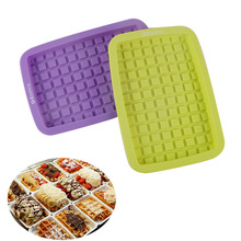 Shebaking DIY Silicone Waffle Mold Maker Pan Non-stick Waffles Cake Chocolate Baking Mould Kitchen Accessories Bakeware