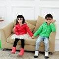 90% de pato para baixo ultra fino jaqueta de meninos 2016 novos meninos da moda e casaco para baixo das meninas crianças down & parkas jaqueta cor de doces