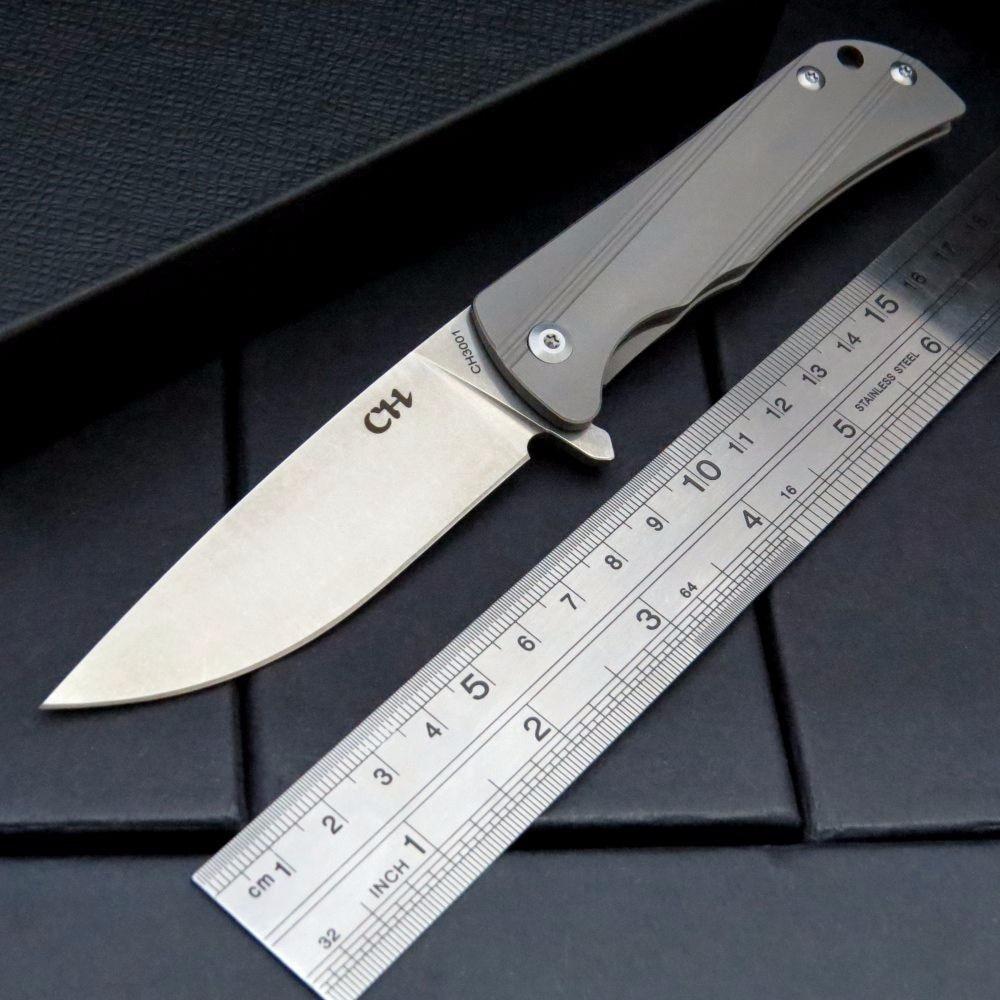 CH3001 Great AUS 8 Folding Knife TC4 titanium alloy handle camping knife bushcraft hunting survival bushcraft