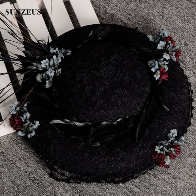 Mulheres Chapéus Do Partido Chapéus de Penas Flores Do Laço Do Vintage Senhoras Elegantes Chapéus De Noiva SQN021