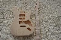 إعدادات diy جناح ودائم جودة عالية الكتريك جيتار الزيزفون الجسم القيقب الأصابع القيقب الرقبة الغيتار stratocaster