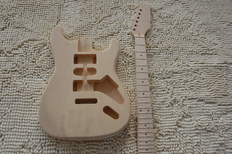 все цены на  DIY suite Settings and durable high quality electric guitar basswood body maple fingerboard maple neck guitarra stratocaster  онлайн