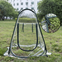 Foldable Garden Greenhouse Portable Mini Transparent Greenhouses PVC Flower Warm Room Plant Cover Insect proof Bird Cover